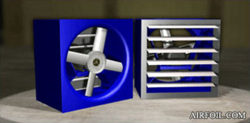 Direct Drive Wall Fans With Gravity-Actuated Back Draft Dampers